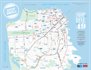 San Francisco Shop Small map