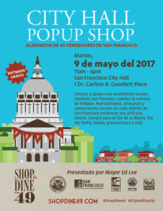 City Hall Popup for SFMade Week - Spanish