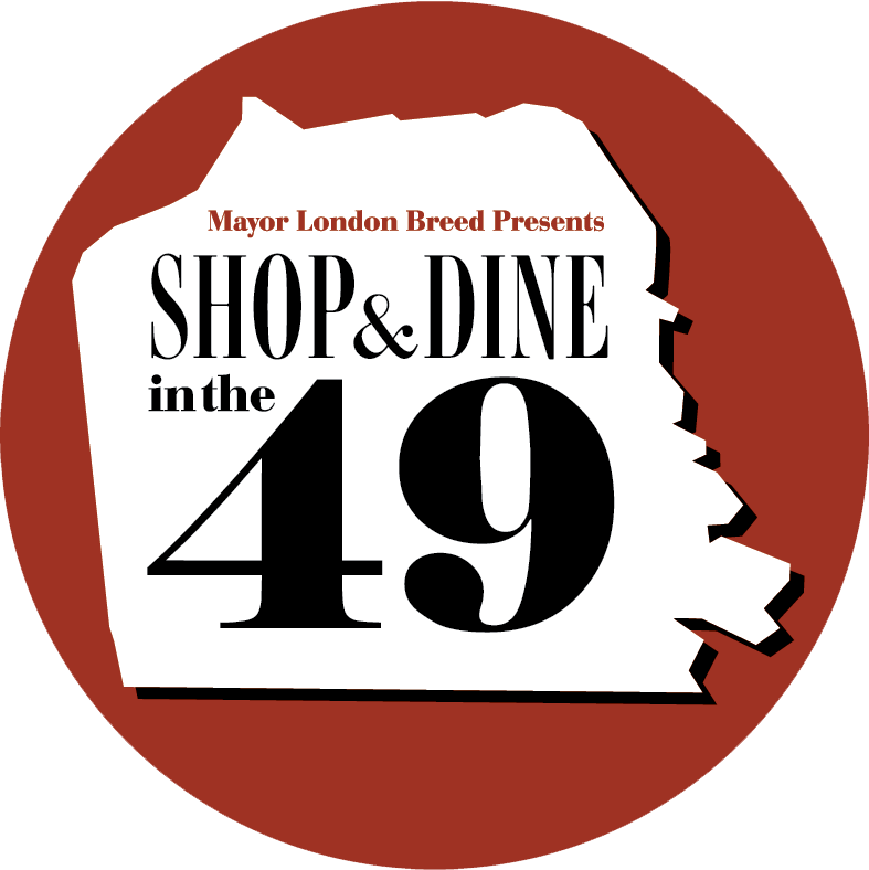 Shop & Dine in the 49 logo